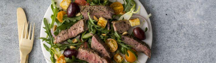 Prep-Ahead Flank Steak Salad (Freezer Friendly!)